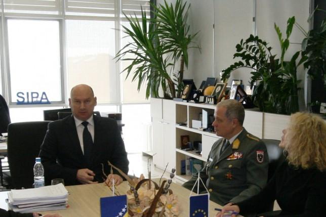Inaugural Visit of EUFOR Commander to SIPA - SIPA GOV BA