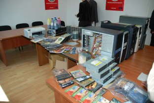 Seizure of pirate audio and video recording media, press conference in the Sarajevo Regional Office